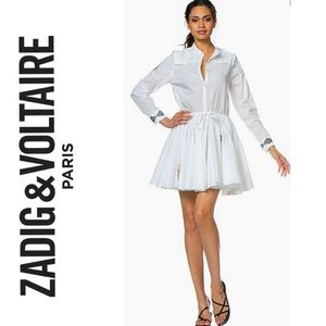 Zadig & Voltaire Ranil Voile Embroidered Dress